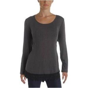 Style & Co Scoop Neck Long Sleeve Size  XS